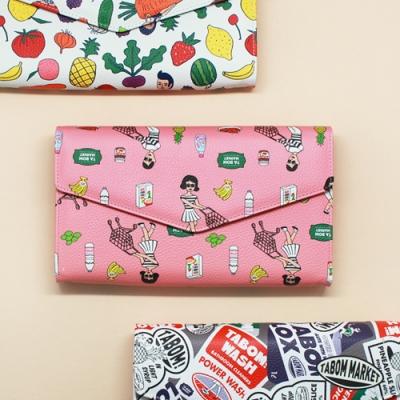 Ooh Là Là! 最新 PATTERN CLUTCH BAG Size: 24.3 X 15cm(三款)<8折中>