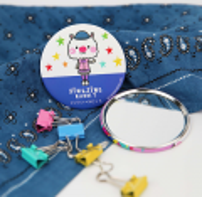 Sing Sing Rabbit round mini mirror (blue)