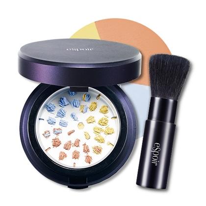 Espoir Grinding Finish Powder Tone Correct SPF 32PA+++ 15g 三色研磨調色定妝碎粉<附碎粉掃><特價>